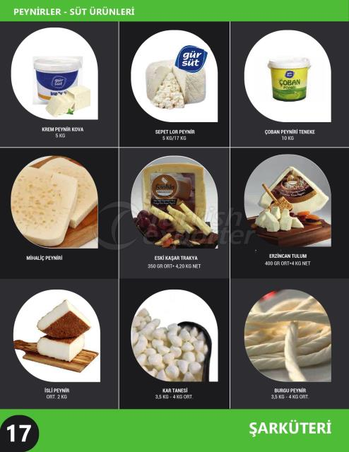 Cheese - Milk Products