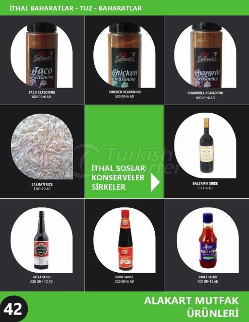 Import Spices - Sauces