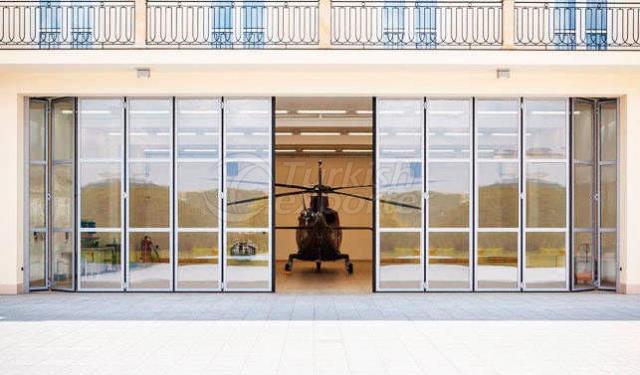 Photocell Accordion Door