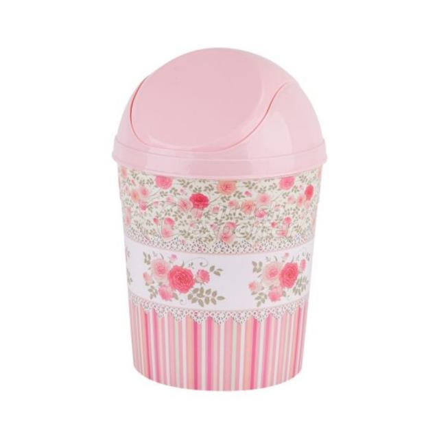 Decorated Push Dustbin
