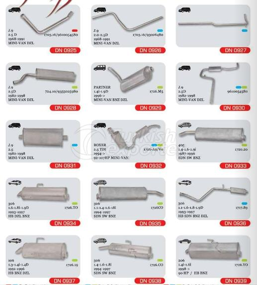 Exhaust For Peugeot