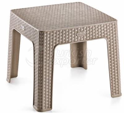 POLY-RATTAN COFFEE TABLE