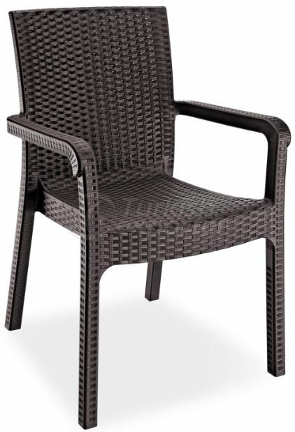 RATTAN EFFECTED ARMCHAIR