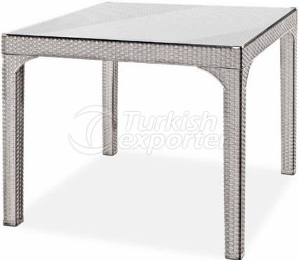 90X90X74H - POLYRATTAN TABLE