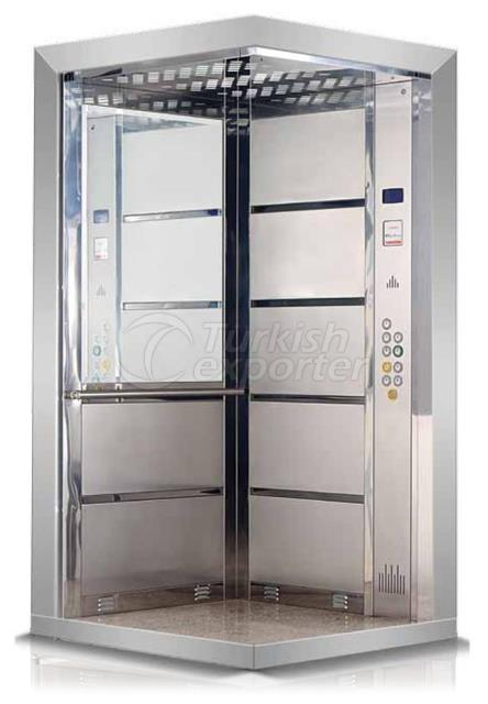 Stainless Elevator Cage with Mirror