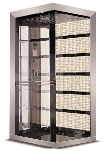 Stainless Patterned Elevator Cabinet
