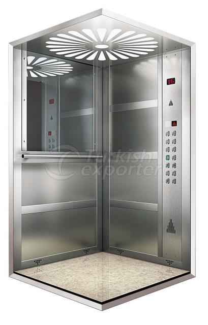 Stainless Satin Elevator Cage