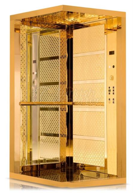 Gold Elevator Cage