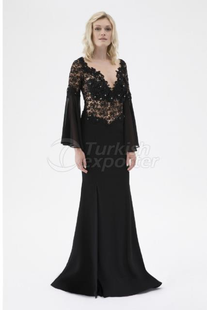 Small Size Embroidered Evening Dress Y7598