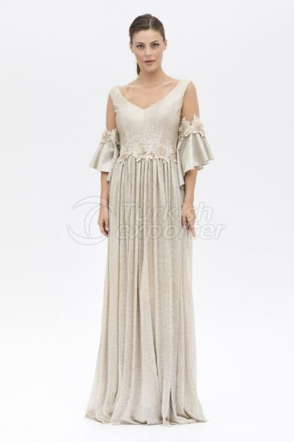 Small Size Embroidered Evening Dress Y8078