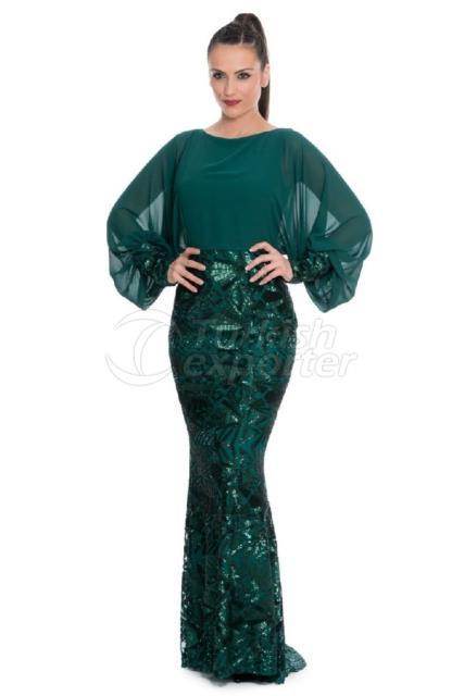 Small Size Islamic Evening Dress Y5358