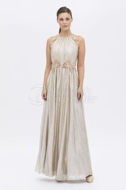 Small Size Embroidered Evening Dress Y8073