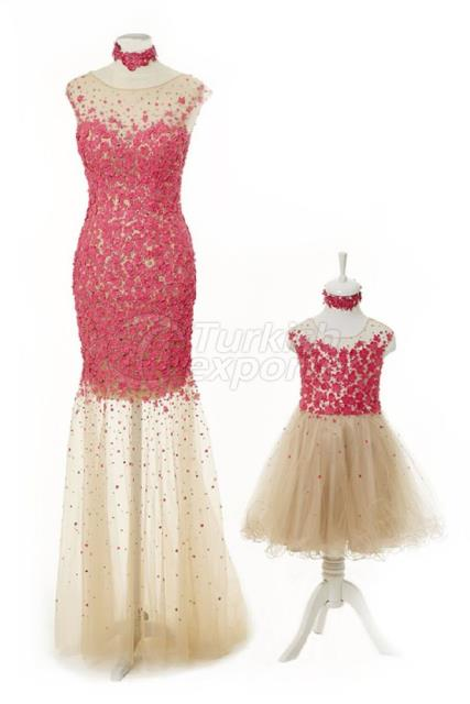 Mother and Daughter Dresses Y6451