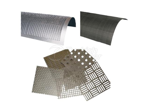 Perforated round and sheet