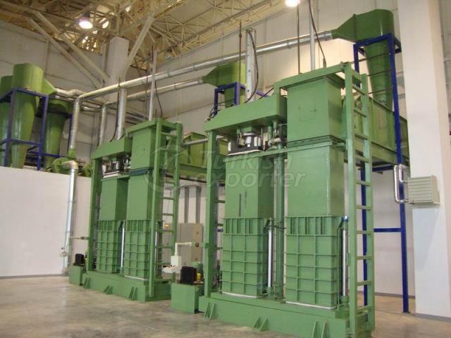 Hydraulic Bale Press Double Box
