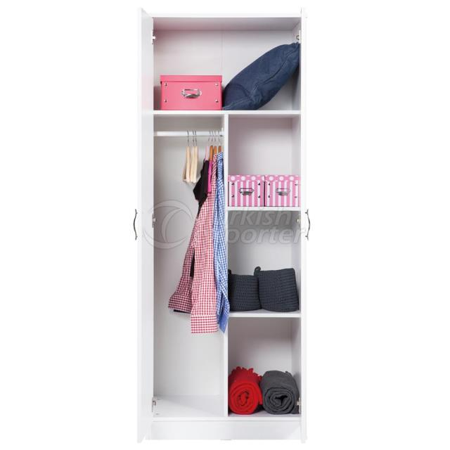 2 Door Cabinet with Drawer - Closet