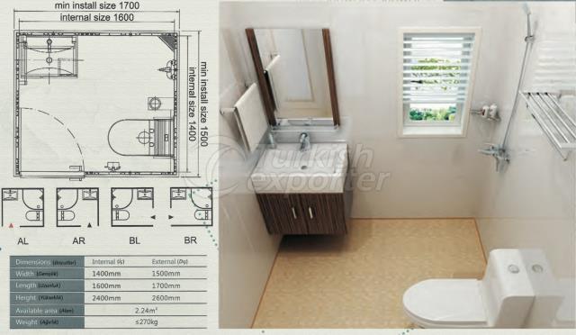 Unit Bathroom BW-1416