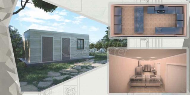 21m2 Kitchen Composite Container