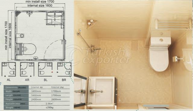 Unit Bathroom BW-1616