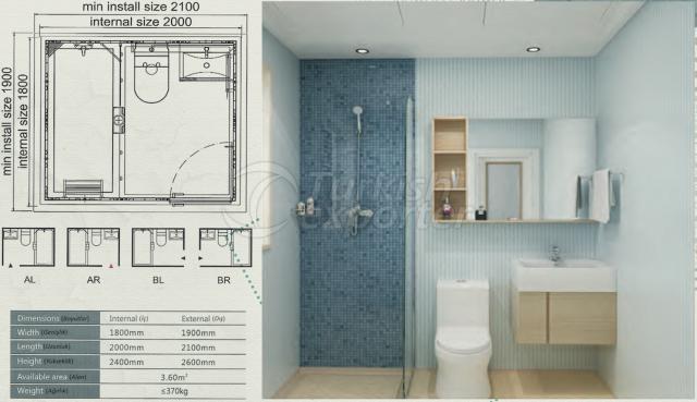 Unit Bathroom BW-1820