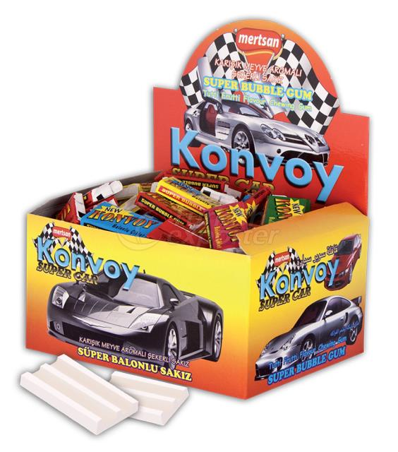 Konvoy Gum with Car Picture