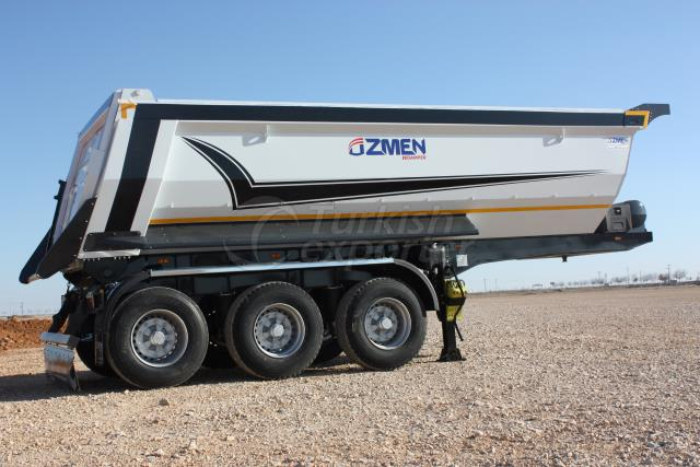 Semi Pipe Tipper Semi Trailer SHA24