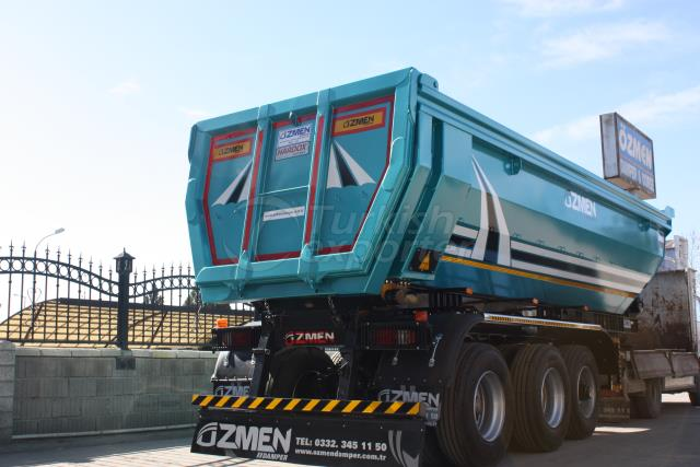 Semi Pipe Tipper Semi Trailer DHM24