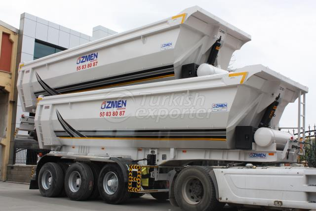 Semi Pipe Tipper Semi Trailer DHB24