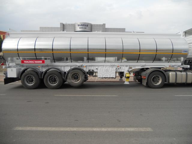Isolated Tanker Semi Trailer