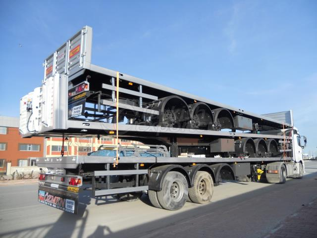 Flatbed Semi Trailer-Air Suspension