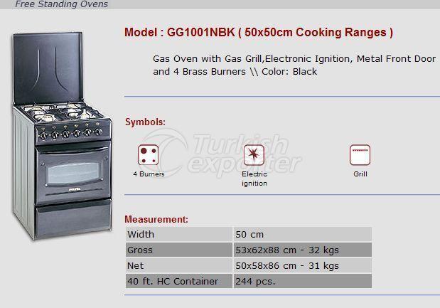 Free Stranding Ovens 50x50 Cooking Ranges GG1001NBK