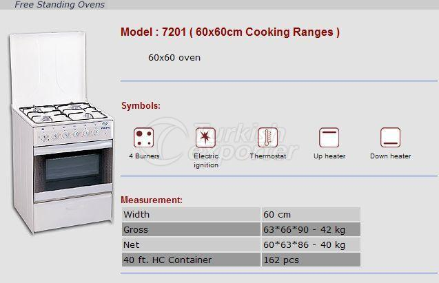 Free Stranding Ovens 60x60 Cooking Ranges 7201