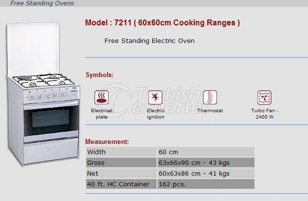 Free Stranding Ovens 60x60 Cooking Ranges 7211