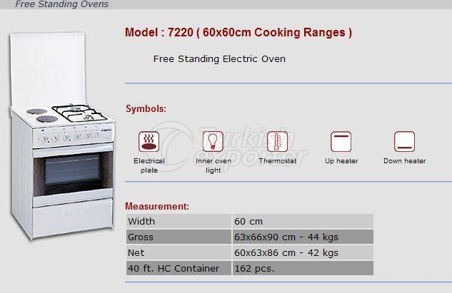 Free Stranding Ovens 60x60 Cooking Ranges 7220