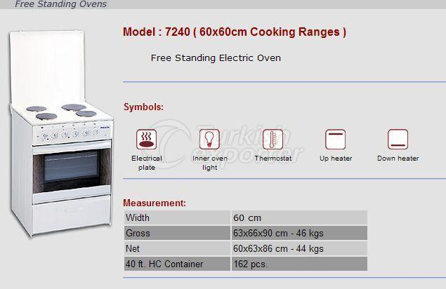 Free Stranding Ovens 60x60 Cooking Ranges 7240
