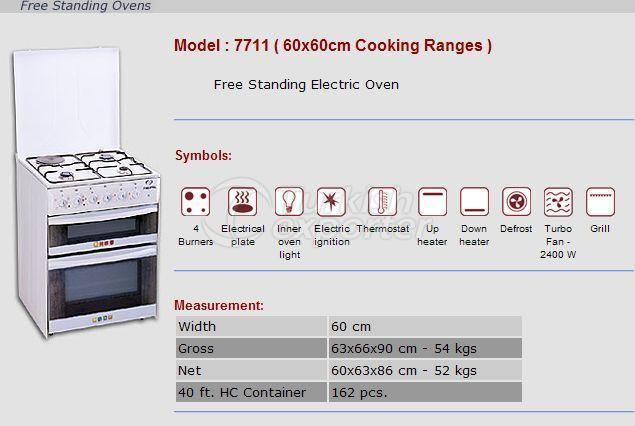 Free Stranding Ovens 60x60 Cooking Ranges 7711