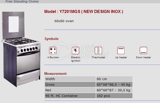 Free Stranding Ovens 60x60 Cooking Ranges Y7201MGS-Inox