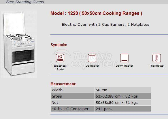 Free Stranding Ovens 50x50 Cooking Ranges 1220