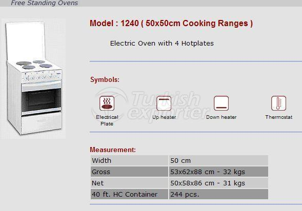 Free Stranding Ovens 50x50 Cooking Ranges 1240