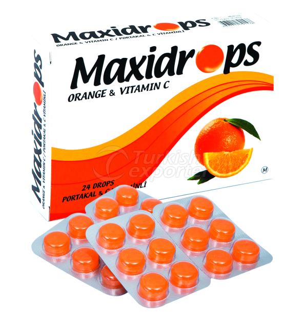 MAXİDROPS ORANGE C VİT LOZENGE