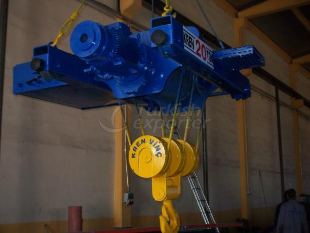 Trolley type crane