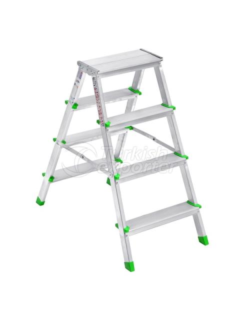 DOUBLE-SIDED ALUMINUM LADDER