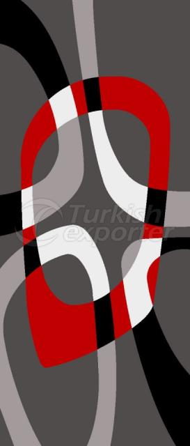 Red Gray Carpet 8421 F8183A