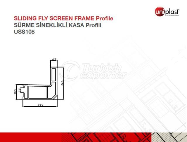 Sliding Fly Screen Frame Profile USS108