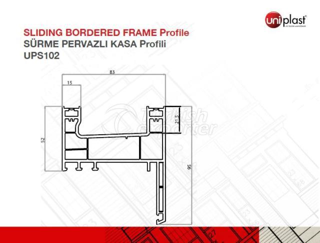 Sliding Bordered Frame Profile UPS102