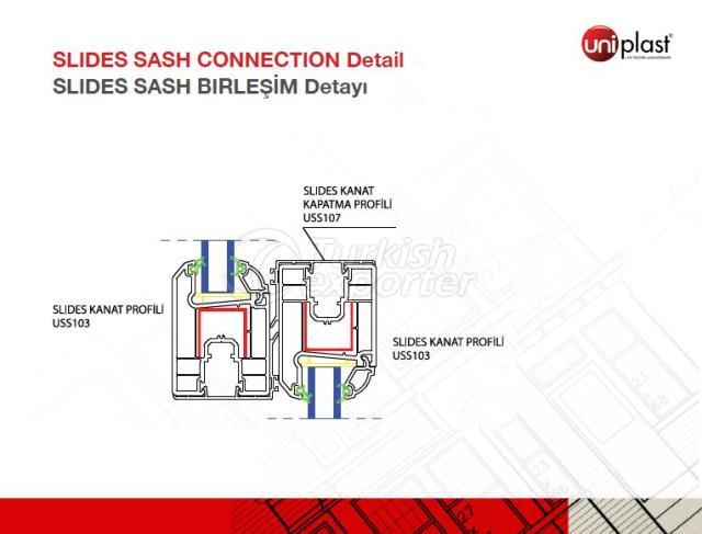 Slides Sash Connection