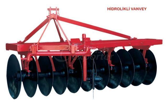 hydraulic one-way disc plow
