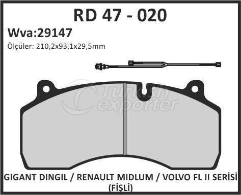 Brake Lining rd 47 - 020