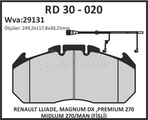 Brake Lining rd 30 - 020