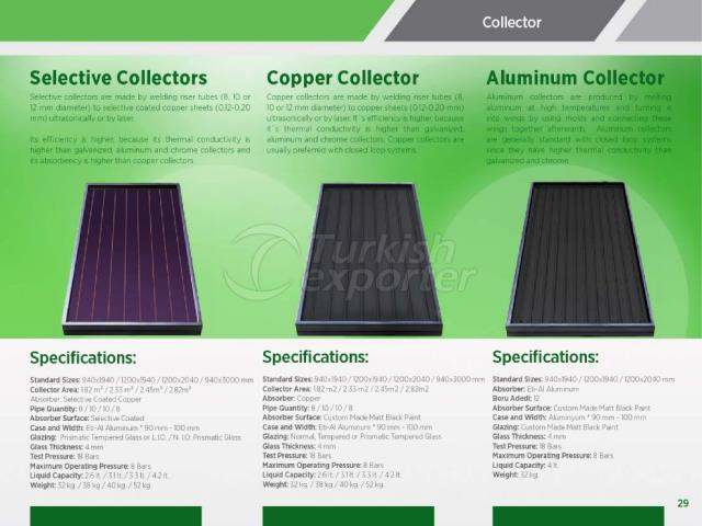 Selective-Copper-Aluminum Collectors